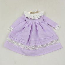 Neo Blythe Doll Vintage Yellow & Purple Dress