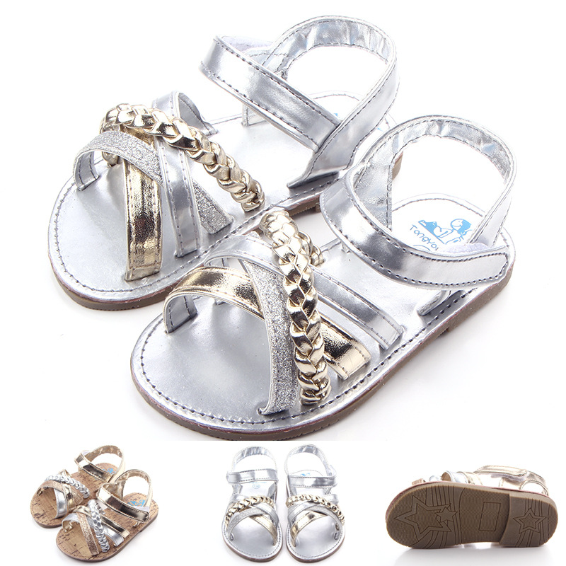 2016 Hot Sale Summer Baby Girl Sandals Rubber Flat Sole Toddler Princess Shoes Infant Shoes For Child 0-1years