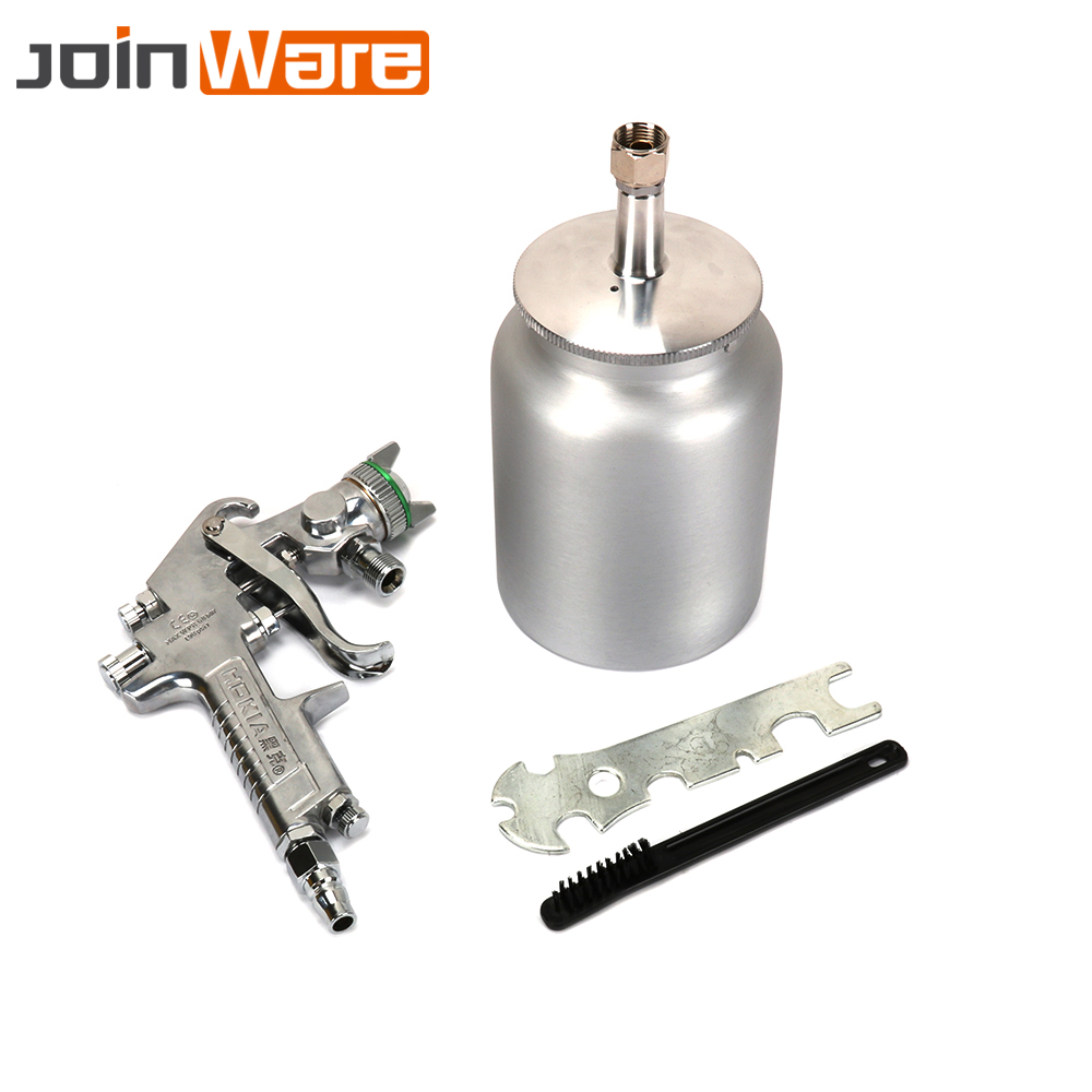 цена на W-77 Pneumatic Spray Gun Airbrush Sprayer Air Tool For Car Surface Furniture Painting Nozzle 2.0mm 2.5mm 3.0mm Free Shipping