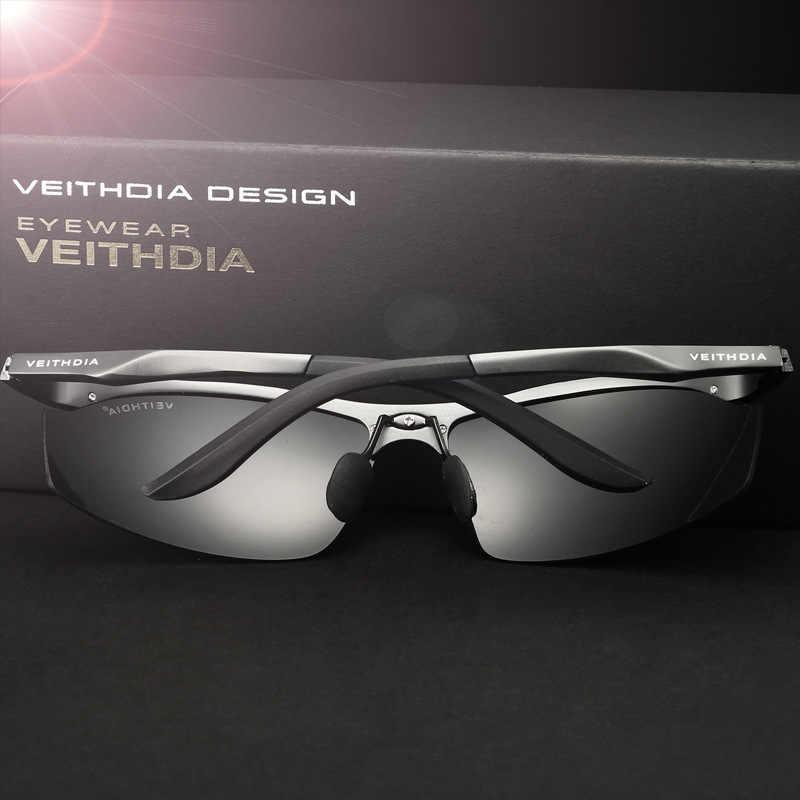 VEITHDIA 2020 מעצב גברים של משקפי שמש מקוטב UV400 עדשת שמש משקפיים אלומיניום הנהיגה Glasse Eyewear עבור גברים 6529