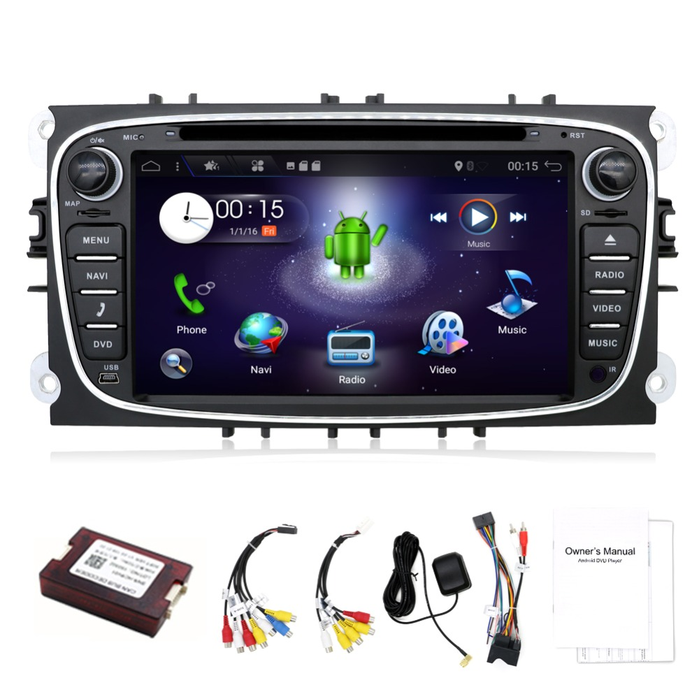 Quad Core 2din Android 7.1 Car DVD for Ford Mondeo S max with English Wifi 3G GPS Bluetooth Radio touch screen wifi 3G