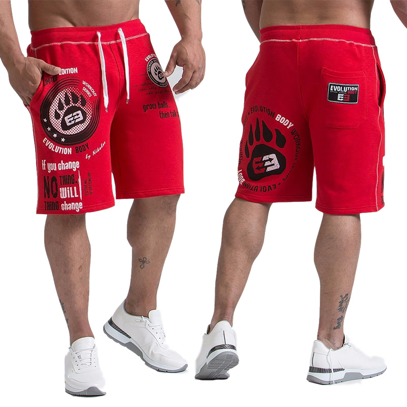 New Shorts Men's Calf-Length Summer Fitness Bodybuilding Casual Joggers Workout Brand Sporting Short Pants Sweatpants Sportswea