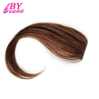 Bybrana 4 Colors 10inch To 12inch 2 Size Available Human Hair Bangs Long Remy Clip In