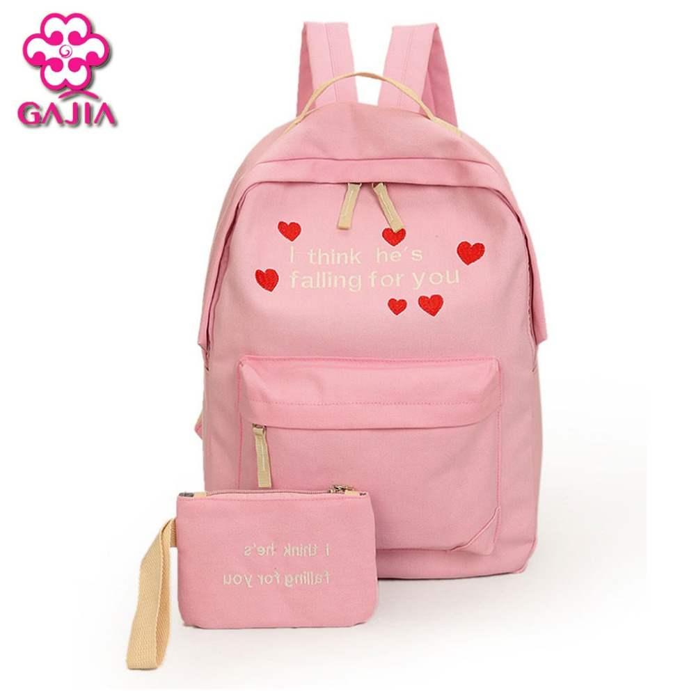 Hot Selling School Bags For Teenagers Mini Backpacks High Quality Canvas Japan and Korean Style Letter Women Shoulders Bag japan and korean style backpacks for women cute cotton dotted printed school bags for teenager girl students xb452