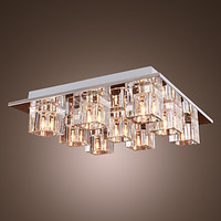 Luminarias Modern K9 Crystal Ceiling Light Lamp With 9 Lights For Living Room Lustres De Cristal