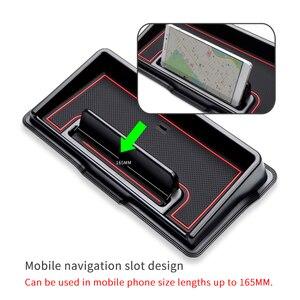 Image 2 - Auto Dashboard lagerung box für Suzuki Jimny 2019 2020 Innen Zubehör Multifunktions Non slip Telefon Stehen Konsole Aufräumen