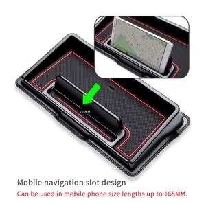 Image 2 - רכב לוח מחוונים אחסון תיבת עבור סוזוקי Jimny 2019 2020 אביזרי פנים תכליתי החלקה טלפון Stand קונסולת לסדר