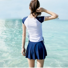 Women Summer Beach Conservative Swimming Skirts Swimsuit Bot