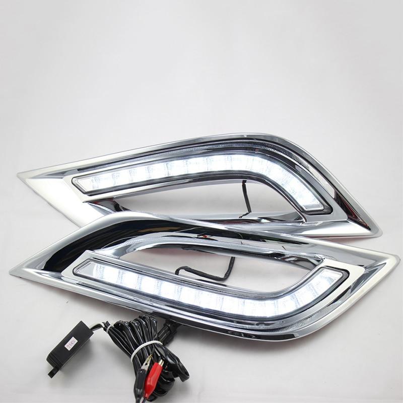 For Hyundai Sonata YF 2011 2012 2013 2014 Turn Yellow Signal Function 12V Car DRL Lamp