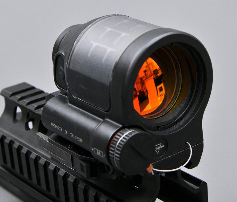 1X38 SRS Solar Power System Red Dot Sight Hunting Reflex Sight Tactical Airsoft Trijicon Rifle Scope Optics With QD Mount Optics best quality good m3 type red dot hunting scope collimator sight rifle reflex for shooting