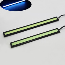 Useful 2Pcs Ice Blue 17cm 12V LED COB Black Shell Truck Car Auto DRL Driving font