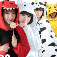 Adults Animal unicornio Pajamas Sets Cartoon Sleepwear Cosplay Hooded Onsie for Women Unisex Winter Flannel Unicorn