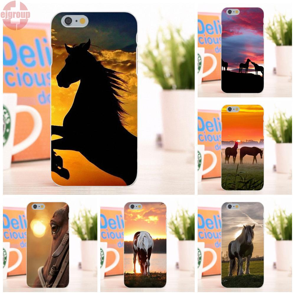 EJGROUP Sunset Horse Soft TPU Silicon Fashion Cell Phone Case For Apple iPhone 6 6S 4.7 inch