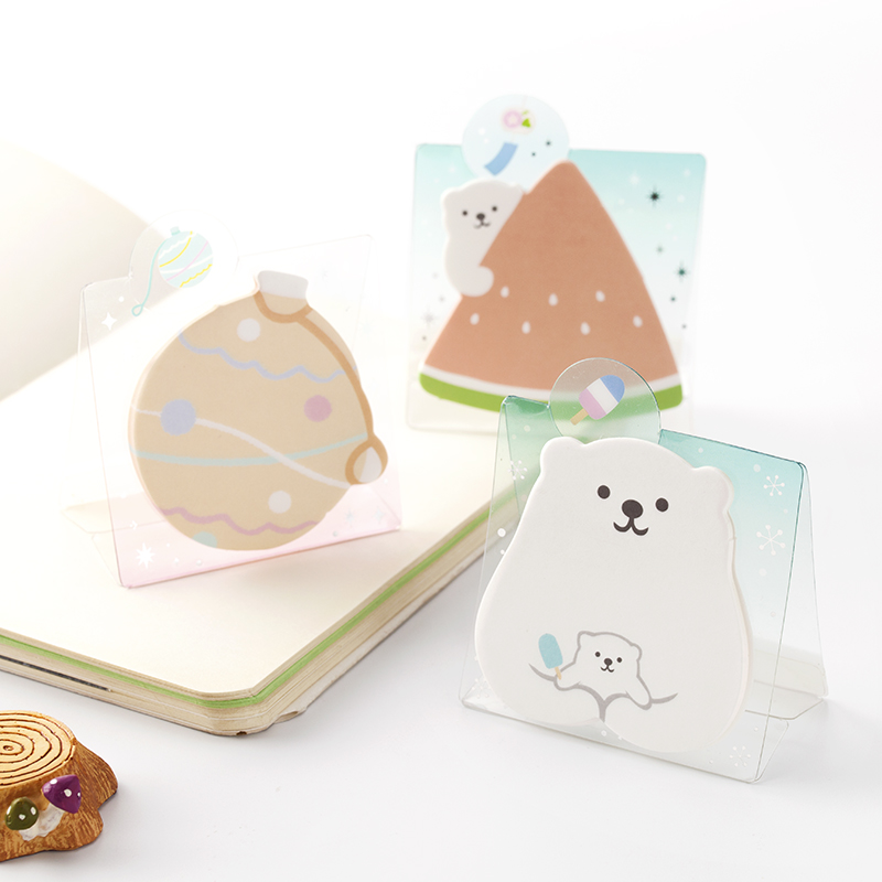 20pcs/lot Cute polar bear memo pad paper stand up sticky notes notepad post it kawaii stationery papeleria school supplies 7157