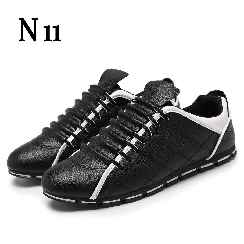 N11 Brand 2017 New Men Shoes England Trend Casual Leisure Shoes Leather Shoes Breathable For Male Footear Loafers Men's Shoes men casual shoes in the autumn of 2017 new england men s trend of men s shoes casual shoes leather shoes breathable four male