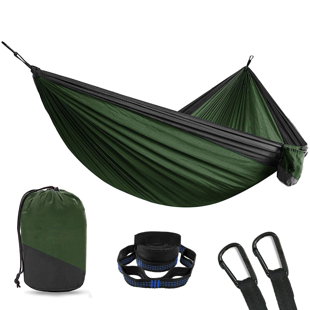 2 Person Double Camping Hammock With 2pcs Tree Straps XL 10 Foot Nylon Portable Heavy Duty Holds 700lb for Sitting Hanging Sale ryan teeter google apps for dummies