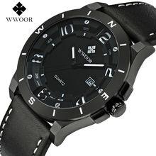 WWOOR Luxury Brand Men Sports font b Watches b font Men s Quartz Hour Day Date