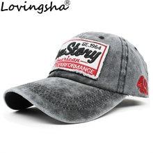 Lovingsha diseño de letra chica ajustable HipHop verano hombres Denim Snapback  Cap mujeres gorra de béisbol b3d1a4089b7