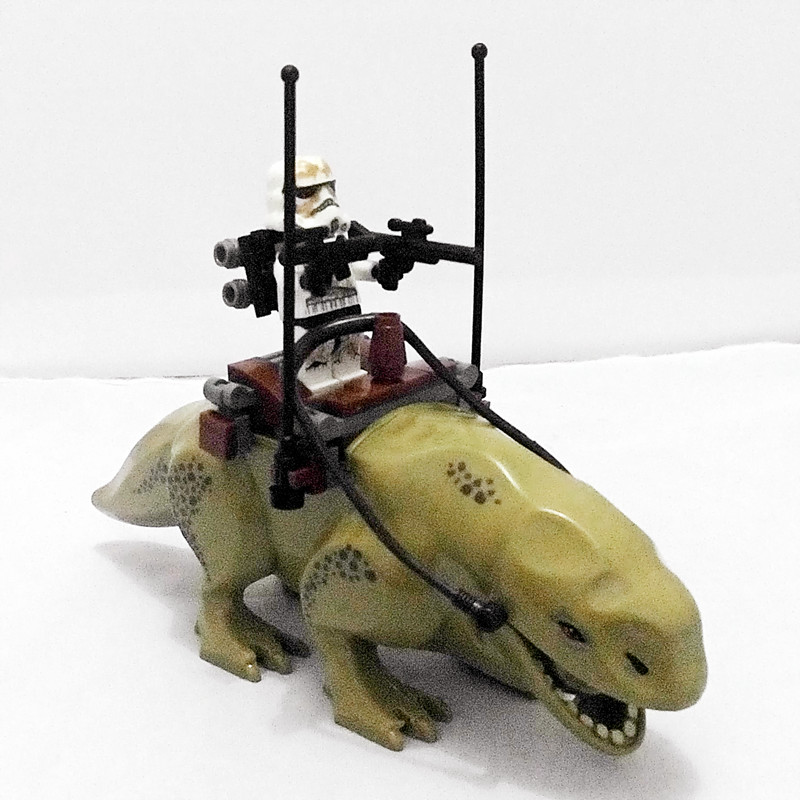 цены Star Wars 7 Dewback Desert Storm Soldiers Troopers Diy Figures Assemble Building Blocks Toys Kids Action Figure XD51