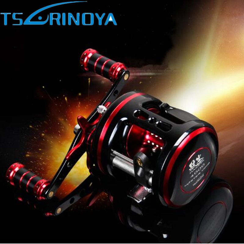 Tsurinoya Drum Fishing Reel Right/Left Hand 9BB/5.3:1 Full Metal Cast Drum Wheel Bait Casting Fishing Reel Steering-wheel Peche new hacker 340g left hand 9bb high strength aluminum full metal cast drum wheel drum reel bait casting fishing reel