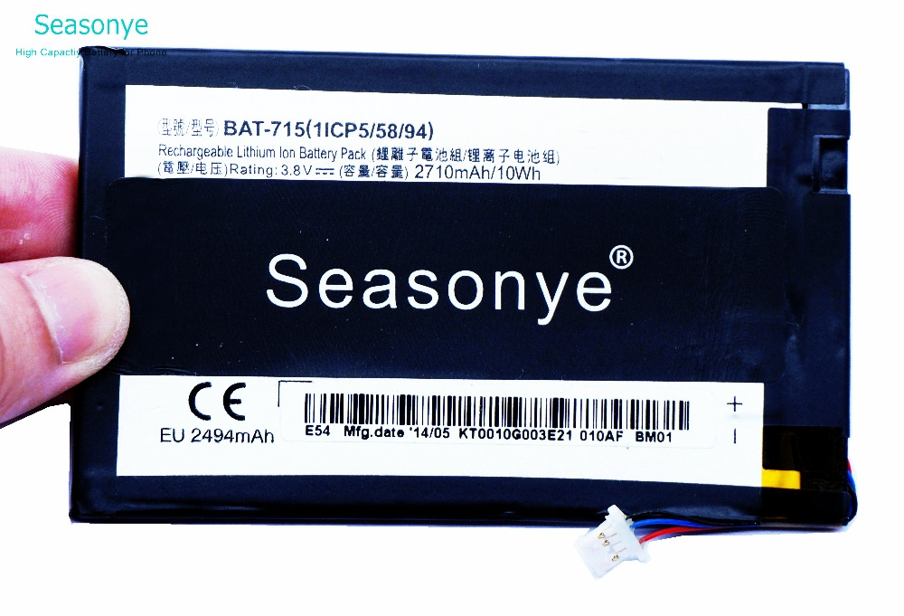 Seasonye 5 10pcs/lot 2710mAh / 10Wh BAT 715 ( With 3 Cables ) Phone Replacement Battery For Acer Iconia Tab B1 B1 A71 B1 710