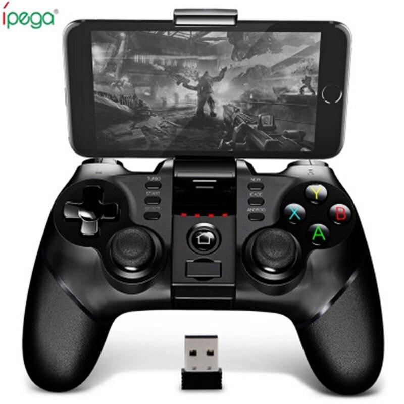 Original Ipega Sem Fio Bluetooth 9076 Gamepad Com 2.4G Receptor Sem Fio Bluetooth Suporte ios Android Jogador Do Jogo Do Console