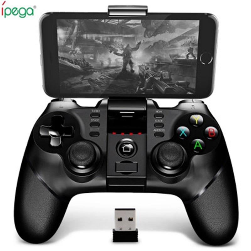 Ursprüngliche Ipega 9076 Bluetooth Wireless Gamepad Mit 2,4G Drahtlose Bluetooth Receiver Unterstützung Android ios Spiel Konsole Spieler