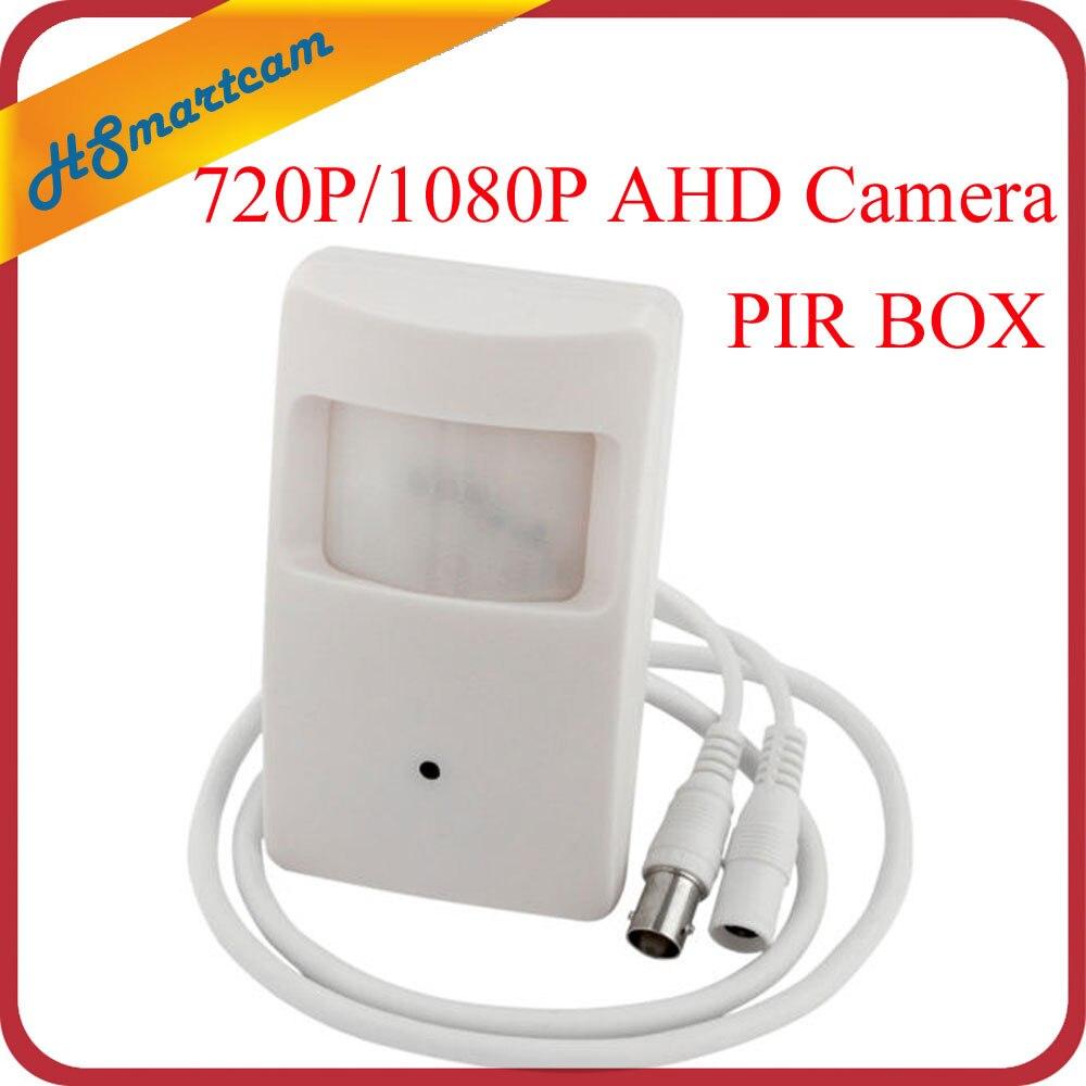 bilder für Neue HD AHD 1080 P 2MP 3,7mm mini Objektiv Mini-box 720 P AHD Sicherheit PIR Bewegungssensor BOX Cctv BNC Kamera Für AHD DVR Kits