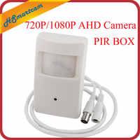 Nouveau HD AHD 1080 P 2MP 3.7mm mini lentille Mini-boîte 720 P AHD sécurité PIR capteur de mouvement boîte CCTV sécurité BNC caméra pour AHD DVR Kits