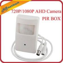 Nouveau mini objectif HD AHD 1080P 2MP 3.7mm Mini boîte 720P AHD sécurité PIR capteur de mouvement boîte CCTV sécurité BNC caméra pour AHD DVR Kits