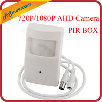 New HD AHD 1080P 2MP 3 7mm Mini Lens Mini Box 720P AHD Security PIR Motion