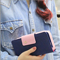 2017 Candy Color Classic Cute Women's Wallet Button Leather Faux Clutch Lady Purse Long Handbag High Quality Card Holder N819