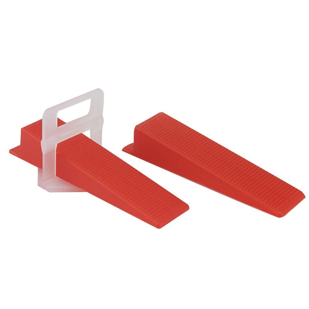 100Pcs/Pack Tile Floor Locator Insert Tile Leveler Wedge Leveling Machine For Plate Flattening System Aid Tool