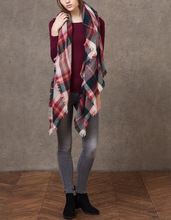 Tartan Scarf Plaid Scarf New Designer Unisex Acrylic Basic Shawls Women's Scarves Big Size 140 *140 CM