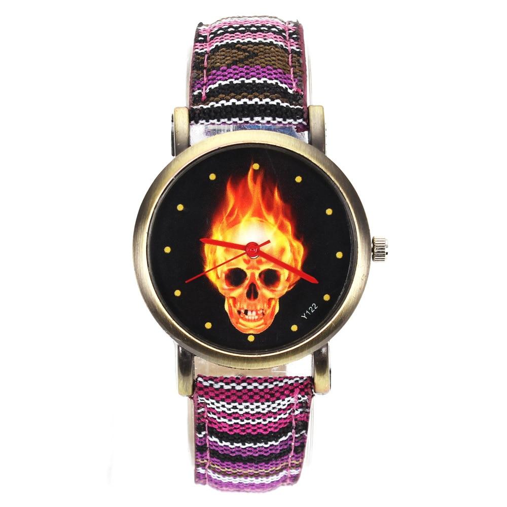 Tűz forró sötét égő koponya csontváz dial órák nők férfiak - Férfi órák - Fénykép 1