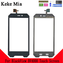 Keke Mia 4.7 Mobile Touch Screen For BlackView BV4000 TouchScreen Sensor Digitizer Panel Front Glass Tools