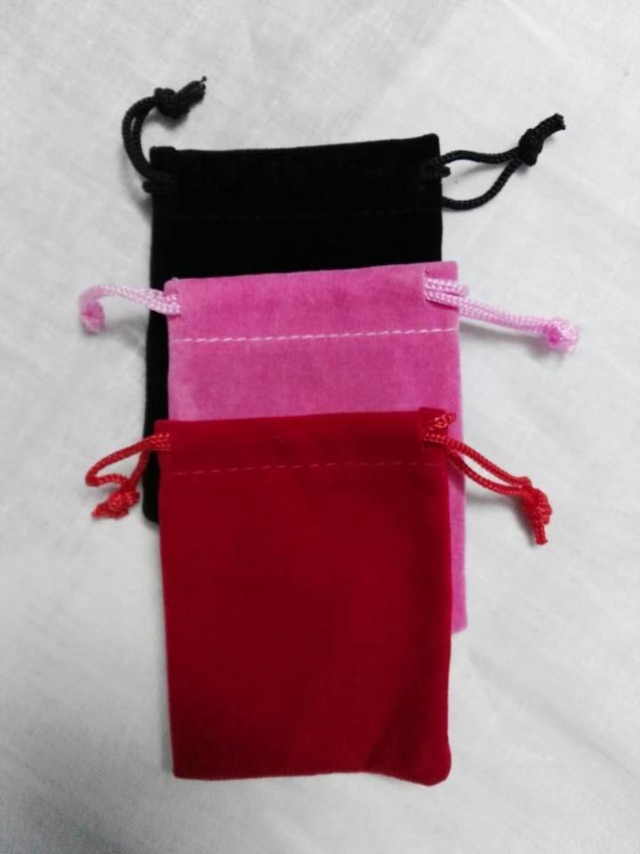 Купить с кэшбэком SPECIAL SALE 50pcs/lot 7*9cm velvet jewelry bag for gift accessories earphone cosmetic necklace bracelet watch packaging