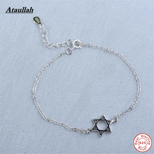 New Wholesale Charm Bracelets Fashion Jewelry 925 Sterling Silver Hollow Stars Bracelet For Women Brand Ataullah BSW445