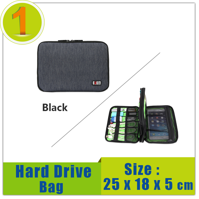 High Quality Portable External Hdd Bag Case Protected For ipad mini , Hard Disk Drive Case Big Double Pack Bag Free Shipping