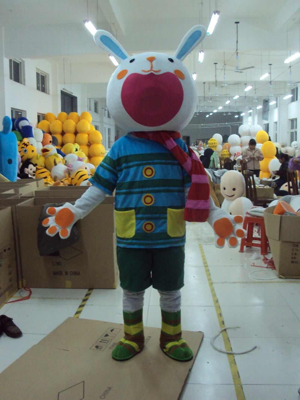 Hot Sale Profesional Kostum Maskot Dewasa Ukuran Fancy Dress Mulut Besar Easter Bunny Bug Kelinci Kostum Maskot EMS Kapal Gratis