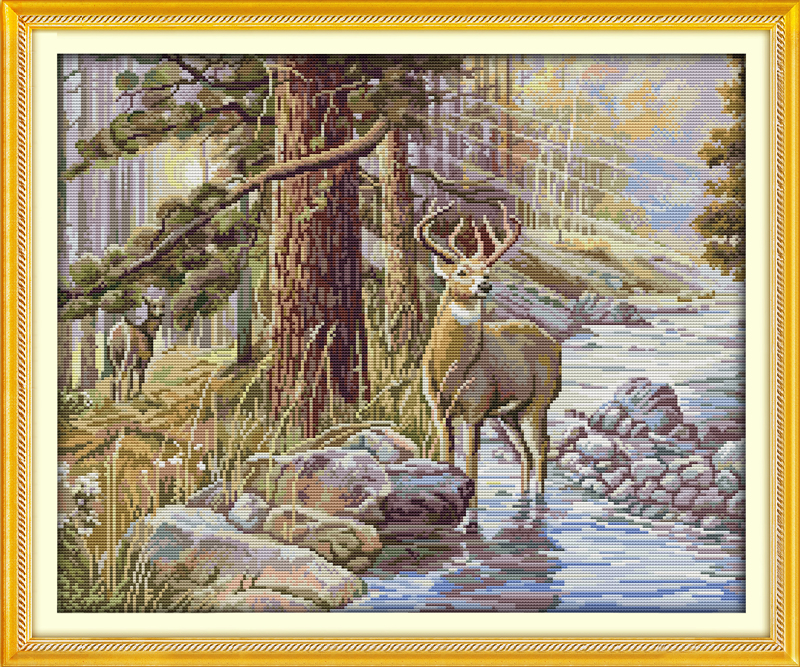 Stag 01 New /& Exclusive Cross Stitch Kit