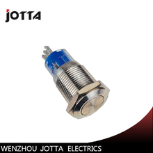 GQ16H-11 16mm Momentary LED light metal push button switch with high round Price:US $2.10 / piece