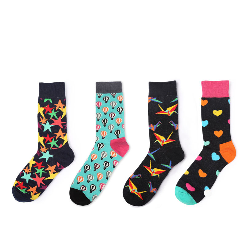 2018 New Men&Women Cotton Socks Colorful Funny Socks Paper Birds For Couples Lovers Gifts