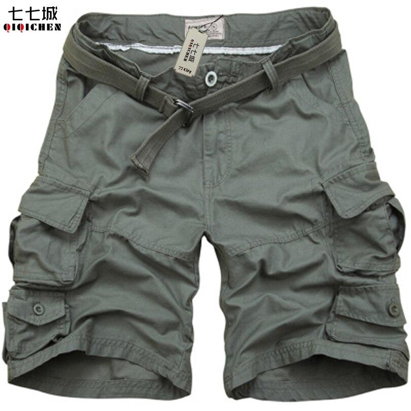2017 Summer Men Shorts Camouflage Cargo Military Shorts Men Casual Multi-Pocket Loose Shorts Men Army Short Bermudas Masculina