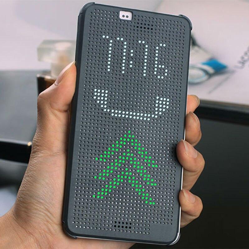 Couverture Pour HTC Mince Dot Pointillé Smart Auto Téléphone Silicone D'origine sommeil Voir Flip Cas Pour HTC Desire 626G 626g 628 628g