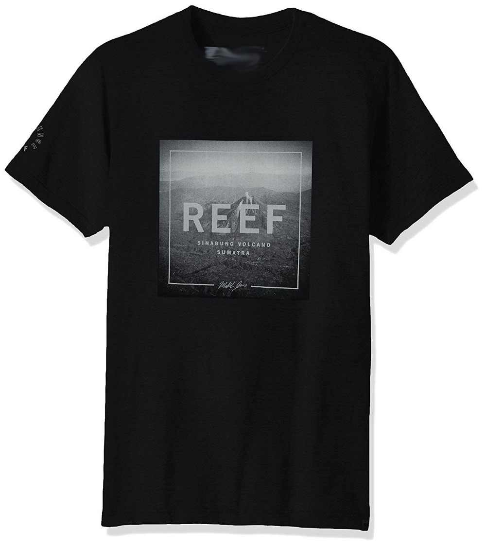 Reef Men's Photo T-Shirt Brand Style Short Sleeve Cheap Sale 100 % Cotton Top Tee Mens Print T Shirt 100% Cotton Top Tee