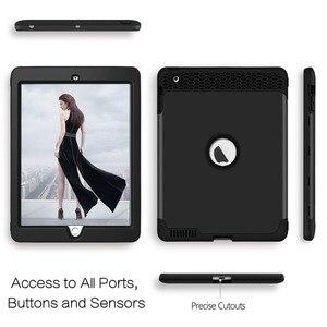 Image 4 - Für iPad 4 Tablet Fall High Impact 3 in 1 Hybird Volle körper PC Robuste Drop Schutz Abdeckung Fall für Apple iPad 4 3 2 Coque Capa