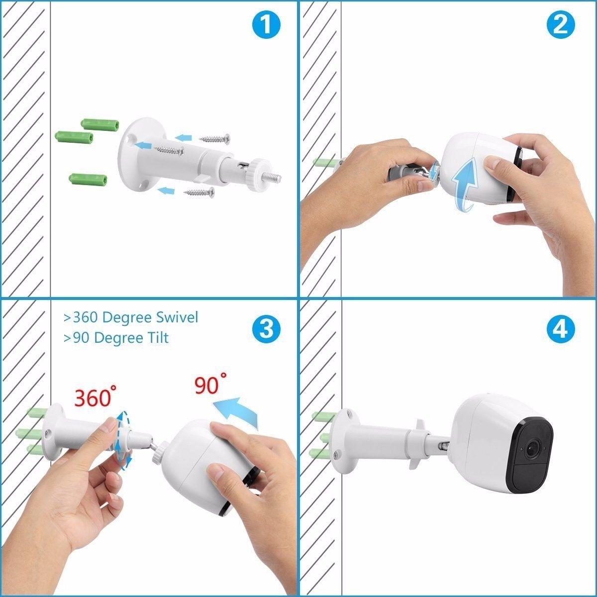 3 Pcs/Set Security Monitor Camera Wall Mount Adjustable Indoor Outdoor Cam For Arlo Pro Cameras SD998