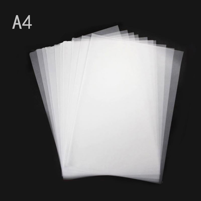 100 יחידות A4 נייר העתקה DIY שקוף חומצה גופרתית העתקת קליגרפיה ציור אספקת מכונת צילום גם למדפסת לייזר הזרקת דיו