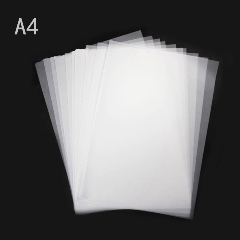100pcs A4 Sulphuric acid Translucent Tracing Paper DIY Copying Calligraphy Drawing Supply also for Laser Inkjet Printer Copier matte white a4 kraft paper self adhesive square print label stickers library book shipping labels for laser inkjet printer